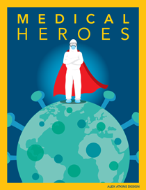 Medical Heroes Fighting Coronavirus by Alex Atkins Design